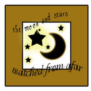 Free Clipart Picture of a Moon and Star Graphic