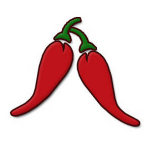 Free Clipart Picture of Two Chilies