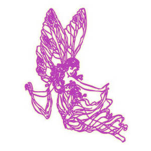 Free Clipart Picture of a Pink Fairy