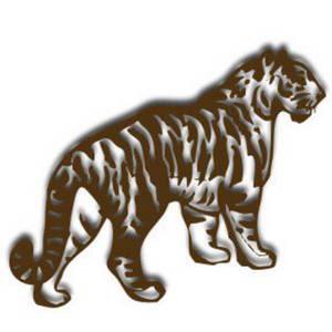 Free Clipart Picture of a Tiger with a Drop Shadow
