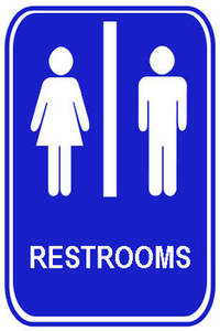 free clipart picture of a co ed restroom sign rh clipartguide com restroom clipart sign restroom clip art free