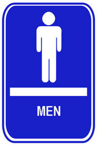 Free Clipart Image of a Blue Restroom Sign