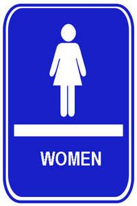 Free Clipart Picture of a Women's Restroom Sign
