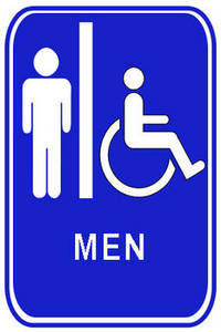 Free Clipart Picture of a Men's Restroom Sign with Handicapped Access