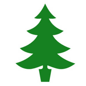 Free Clipart Picture of a Christmas Tree - Simple Green Silhouette