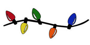 Free Clipart Picture of a String of Colored Christmas Lights