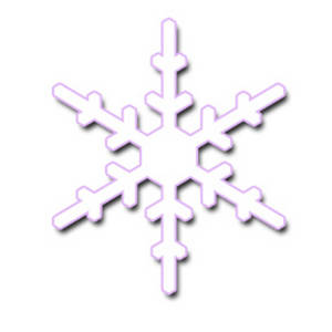 Snowflake with a Pink Outline