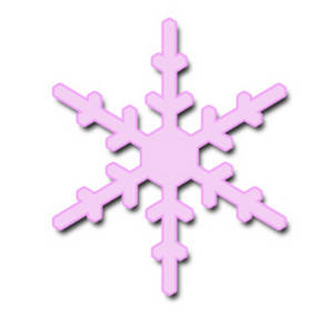 Free Clipart Illustration of a Pale, Pink Snowflake