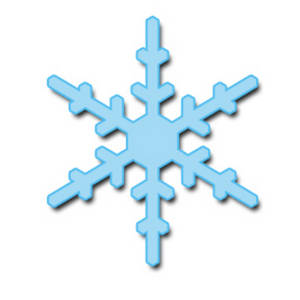 Free Clipart Picture of a Light Blue Snowflake