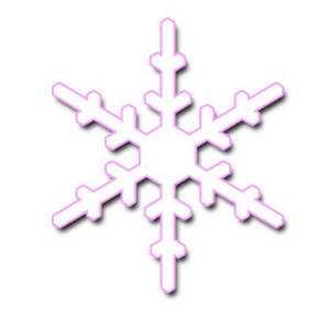 White and Pink Snowflake