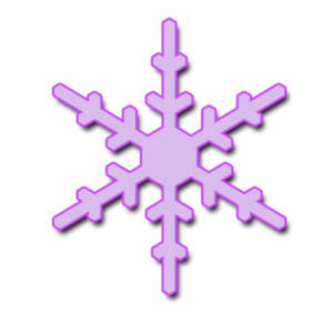 Free Clipart Illustration of a Lavender Snowflake