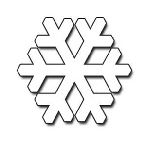 Free Clipart Image of a Geometric, Black and White Snowflake
