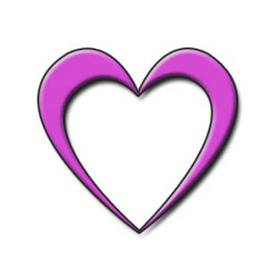 Free Clipart Picture of an Open, Fuschia Heart