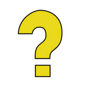 Free Clipart Picture of a Yellow Question Mark with a Black Outline