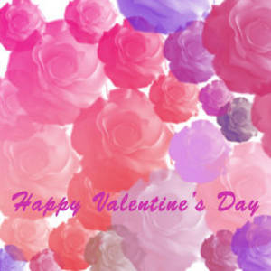 Free Myspace Clipart Picture of Lots of Lacy Roses in Shades of Pink
