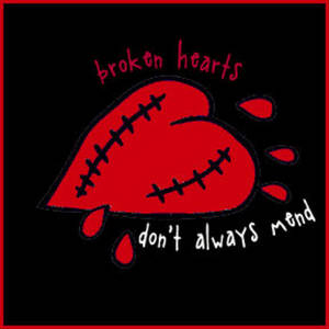 Free Myspace Clipart Picture of a Broken Heart with Stitches
