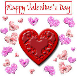 Free Valentine Clipart Picture of Victorian Hearts for Valentine's Day