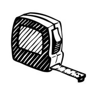 Free Tool Clipart Image of a Tape Measure