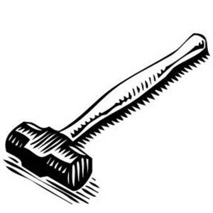 Free Tool Clipart Image of a Sledge Hammer with a Short Handle