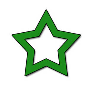 Free Clipart Picture of an Open Green Star