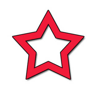 Free Clipart Picture of an Open Red Star