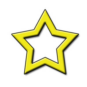 Free Clipart Picture of an Open Yellow Star