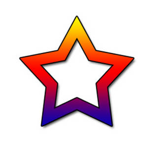Free Clipart Picture of an Open Rainbow Star