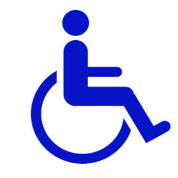 Clipart Picture of a Handicapped Sign of a Person in a Wheelchair