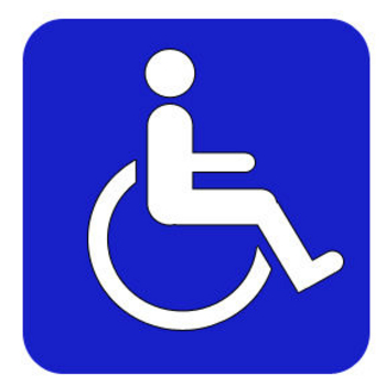 Clipart Image of a Handicapped Sign of a Person in a Wheelchair