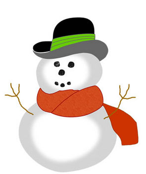 Free Clip Art Picture of a Funny Looking Snowman