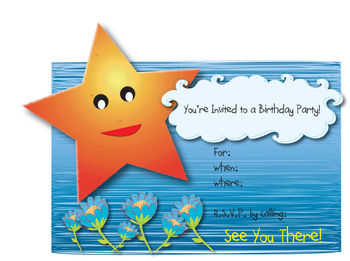 Free Clip Art Picture of a Birthday Party Invitation