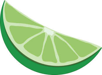 Free Clip Art Picture of a Lime Wedge