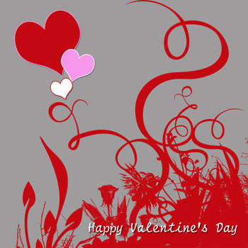 Free Clip Art Picture of a Happy Valentine's Day Graphic