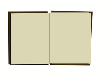 Free Clip Art Picture of an Open Book