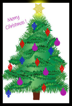 Free Decorated Christmas Tree Clip Art