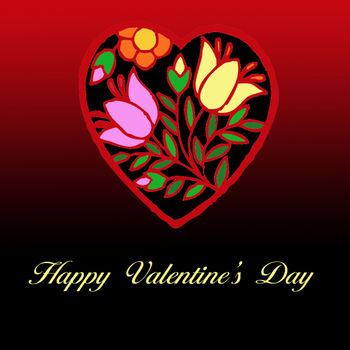 Free Valentine Clip Art of a Stained Glass Heart on a Gradient Background