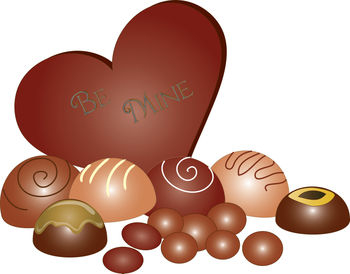 Chocolate  Heart with Other Chocolates