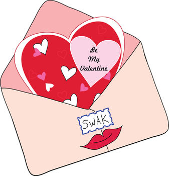 Valentine Card with a Stamp