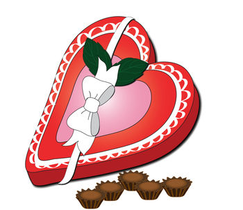 Clip Art Illustration of a Valentine Heart with an Arrow Through It
