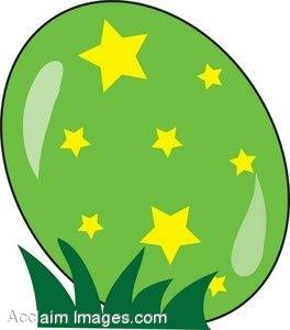 Dyed Easter Egg  With Stars