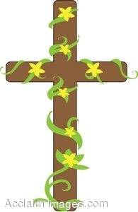 Easter Cross With Yellow Flowers