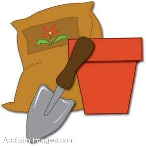Clipart Picture of Gardening Items