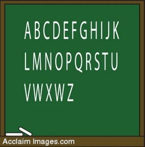 Chalkboard With The Alphabet