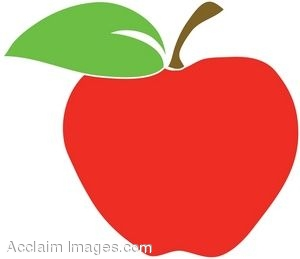 clipart illustration of a red apple with leaf rh clipartguide com free clipart red apple red yellow green apple clip art