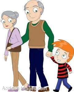 clipart illustration of a little boy with his grandparents rh clipartguide com grandparents clip art free grandparents clip art black and white