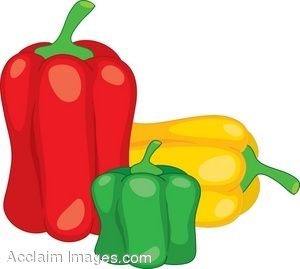 clipart illustration of three bell peppers rh clipartguide com hot pepper clip art bell pepper clip art