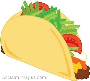 clipart illustration of a taco with toppings rh clipartguide com taco tuesday clipart free Walking Taco Clip Art