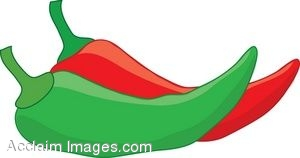 clipart illustration of red and green chili peppers rh clipartguide com chili pepper clipart free red hot chili pepper clip art free
