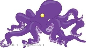 Grayscale Octopus Animal Free Black White Clipart Images - Purple Octopus  Clipart - Free Transparent PNG Clipart Images Download