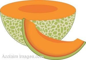 Sliced Cantaloup Melon